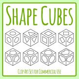 Shape Cubes Templates Clip Art Set Commercial Use