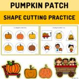 Shape Cutting Practice with Scissors Preschool - Pumpkin Patch Themed