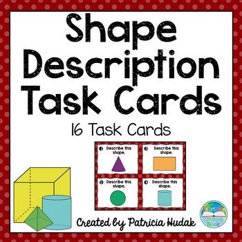 Shape Description Task Cards (2D and 3D Shapes!)