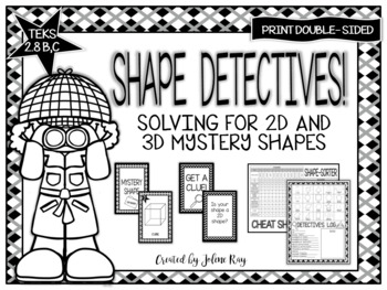 Shape Detectives: A Mystery Shape Game Supporting Math TEKS 2.8B and 2.8C