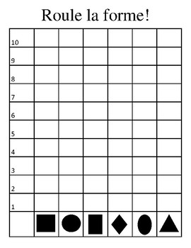 Shape Graphing Activity (in French)