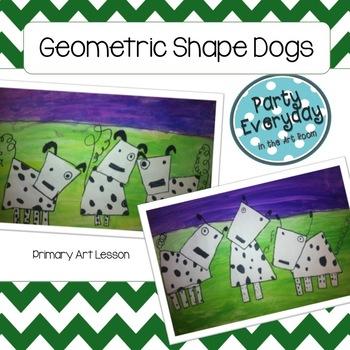 Art Lesson: Shape Dogs