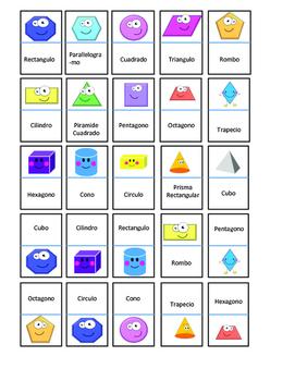 Shape Dominoes in Spanish