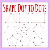 Shape Dot to Dots - Simple Dot to Dot Clip Art for Commercial Use