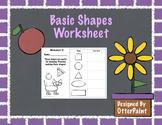 Shape Drawing Practice Worksheet