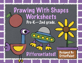 Shape Drawing Worksheets.