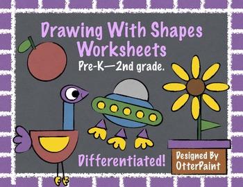 Shape Drawing Worksheets.