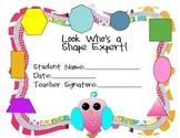 Shape Expert Award Freebie