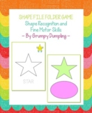 Shape File Folder Game - Shape Recognition and Fine Motor Skills