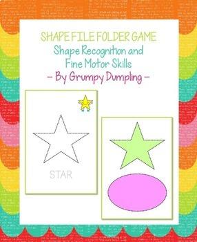 Shape File Folder Game - Shape Recognition and Fine Motor Skills