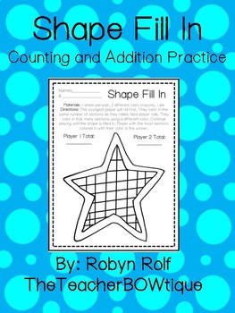 Shape Fill In Counting and Addition Practice