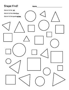 Shape Find - Kindergarten and 1st Grade Math/Art