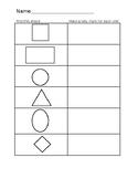 Shape Finders sheet