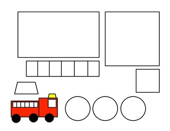 Unforgettable image regarding fire truck template printable