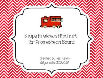 Shape Firetruck Flipchart for Promethean Board