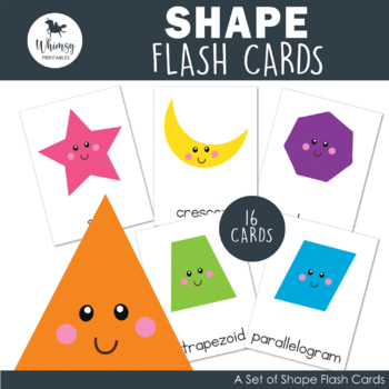 photo relating to Printable Shapes Flash Cards titled Form Flash Playing cards