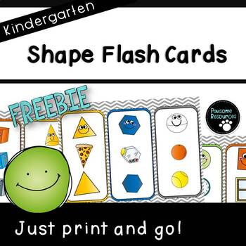 Shape Flash Cards (***Kindergarten FREEBIE***)