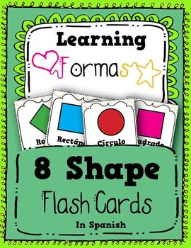 Shape Flash Cards in Spanish