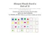 Shape Flash Cards, set of 3