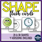Shape Flash Cards for 2d & 3d shapes