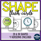 Shape Flash Cards for 2d & 3d shapes