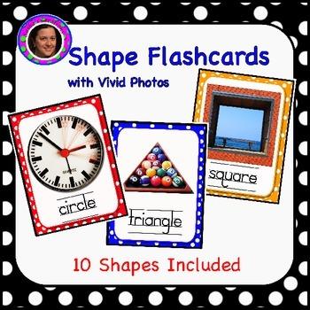 Shape Flashcards with Vivid Photographs