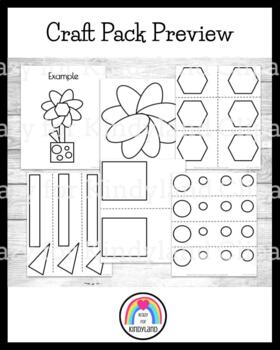 Spring, Summer, Plants Craft: Shape Flower