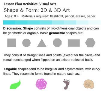 shape form art teaching resources teachers pay teachers