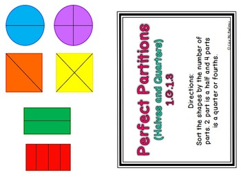 Shape Fractions Sorting Game- 1.G.1.3
