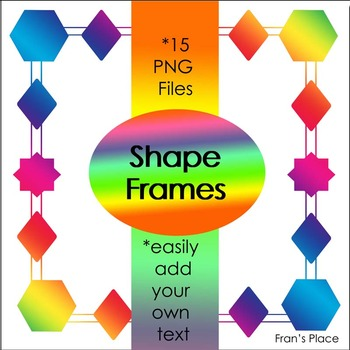 Frames ~ Geometric theme for your teacher resources