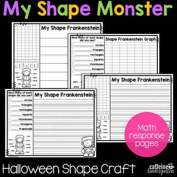 Halloween Math Activities - Shape Frankenstein Monster Craft