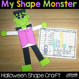 Halloween Math Activities - Shape Frankenstein Monster Craft