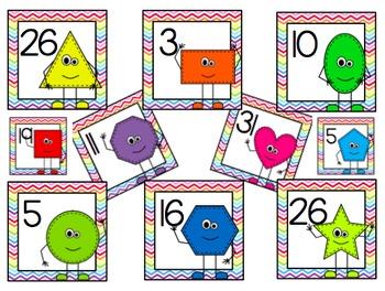 Shape Friends Calendar Numbers (10 Full Sets!!)