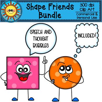 Shape Friends Clip Art Bundle