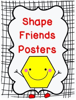 Shape Friends Printable Posters: 46 pages total