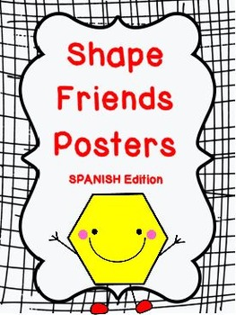 Shape Friends Printable Posters - SPANISH Edition: 46 pages total