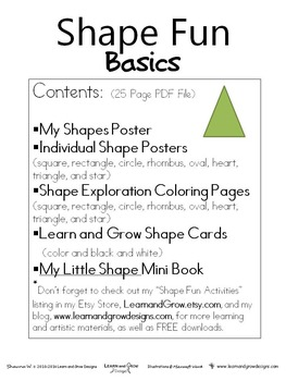 Shape Fun Basics Educational Materials