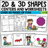 2D Shapes and 3D Shapes Activities and Worksheets
