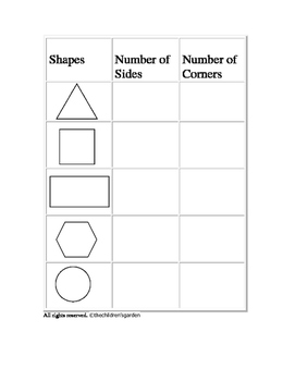 Shape Fun: Sizes and Corners