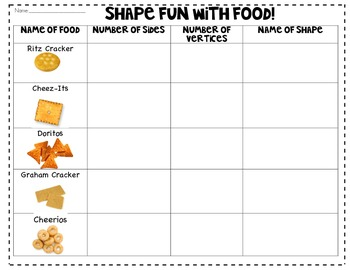 Shape Fun with Food!