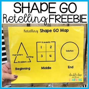 Shape GO Retelling strategy Freebie