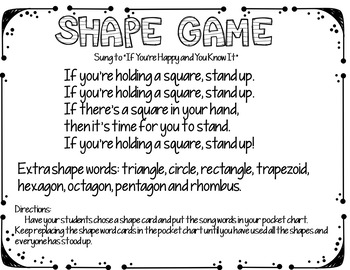 Shape Game (A Pocket Chart Activity)