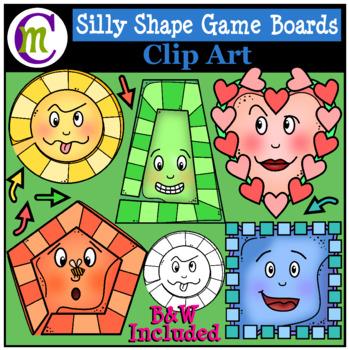 Shape Game Boards Clip Art