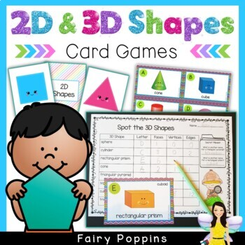 Shape Games - 2D and 3D Shapes - Memory, Snap and Scoot!