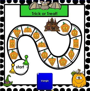 SHAPE GAMES:  Halloween Edition