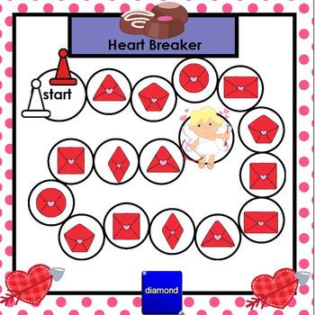 SMARTBOARD Shape Games:  Valentine's Day Edition