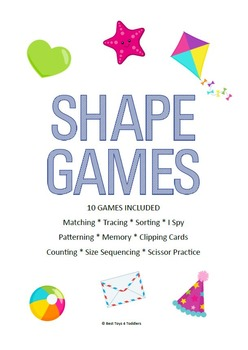 Shape Games for Tot School, Preschool and Pre-K