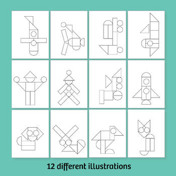 12 Shape Coloring Pages Printables