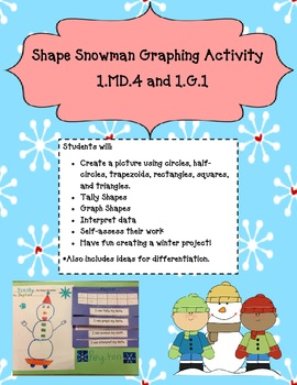 Shape Graphing Snowman Activity