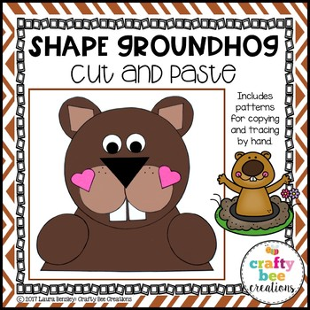 Groundhogs Day Craft {Shape Groundhog}